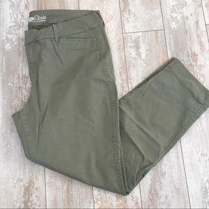 Army green chino pants